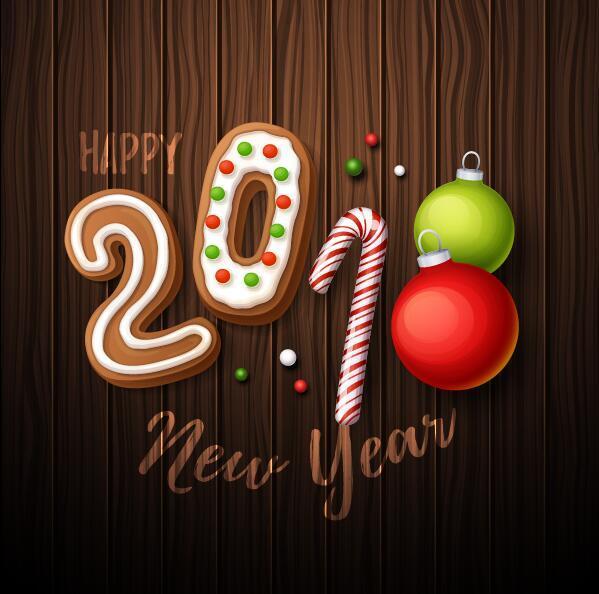 süß Neu Jahr 2018