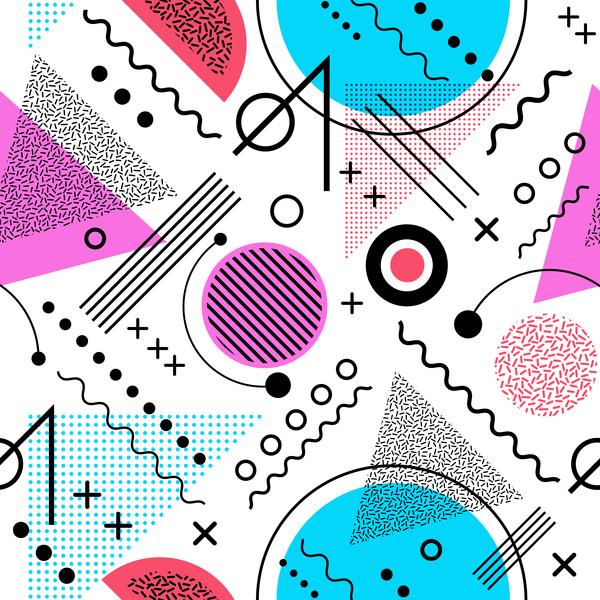 symbol seamless pattern abstract
