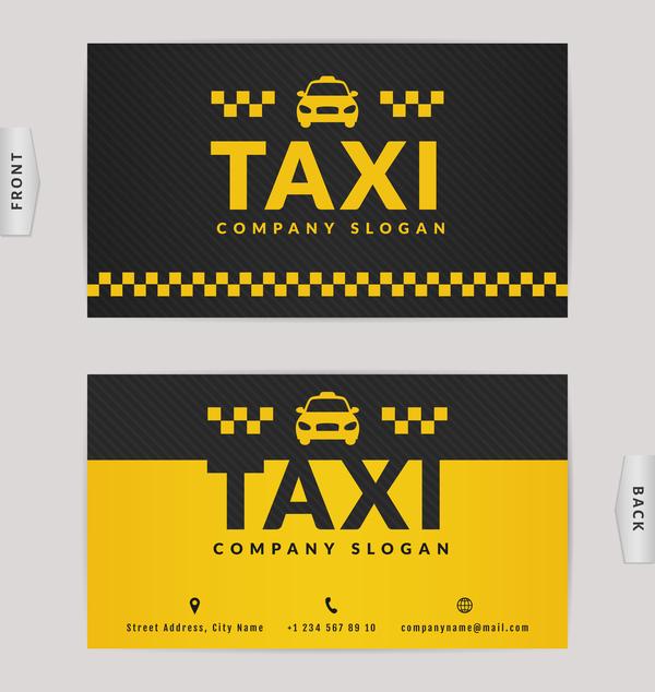 黄色 色 ブラック ビジネス タクシー カード
