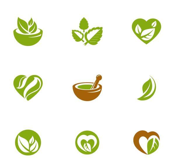 Thé vert des logos