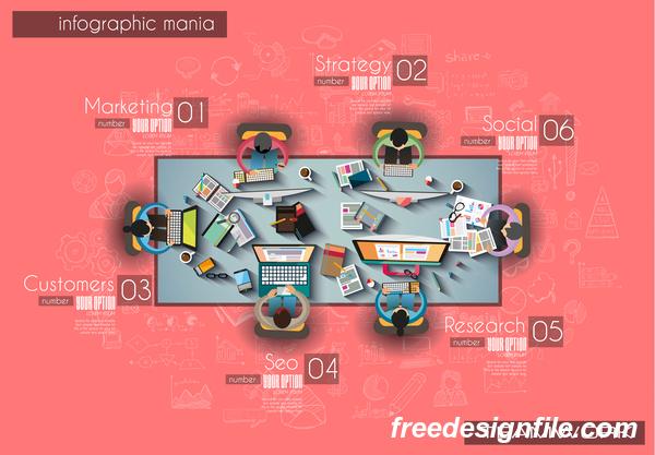 teamwork Infografik Ideen