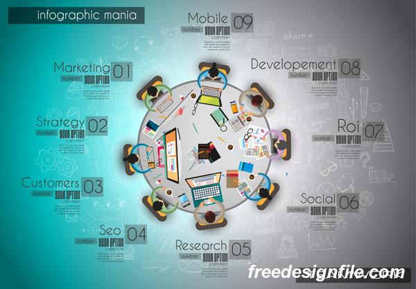 チームワーク インフォグラフィック アイデア