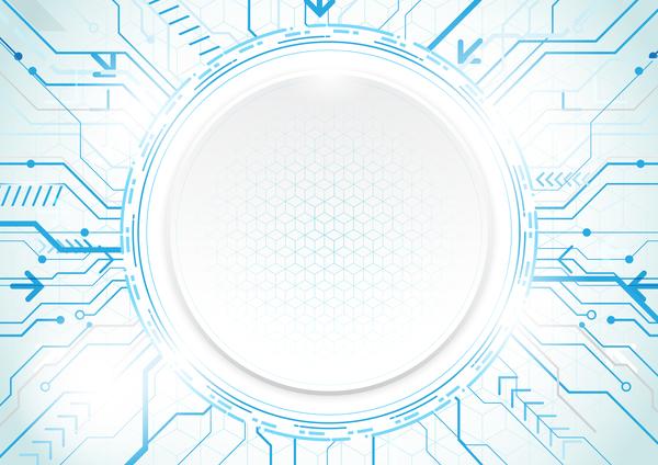 technologie moderne géométrique concept cercle bleu