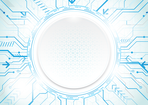 tecnologia moderna Geometrica concetto circle blu