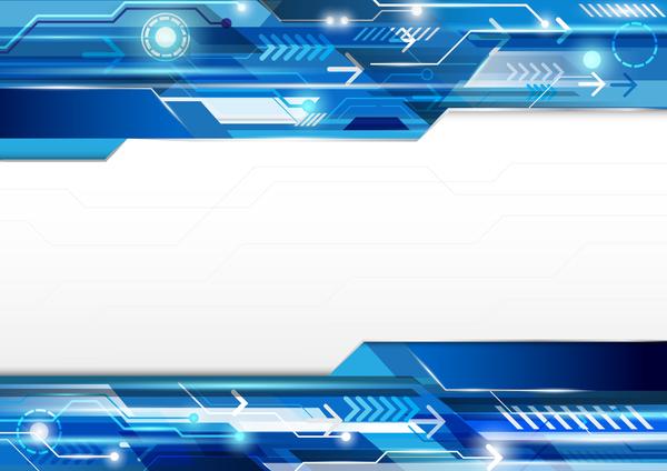 teknik modern koncept blå