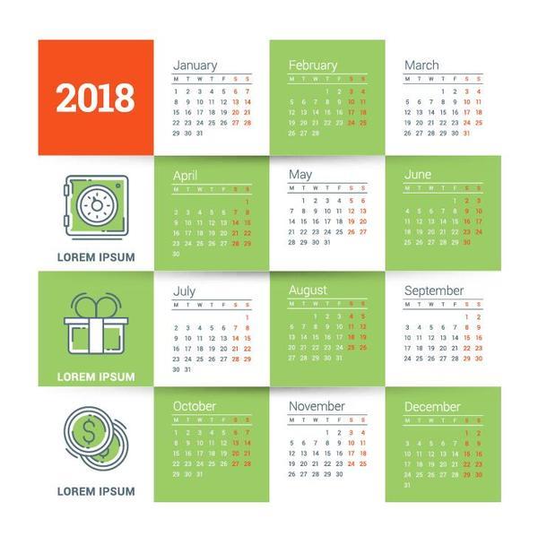 Kalender grön anbud 2018