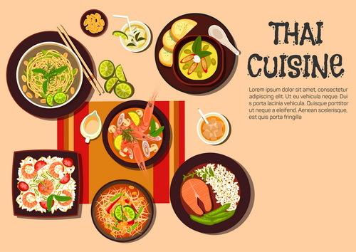 、料理、タイ語