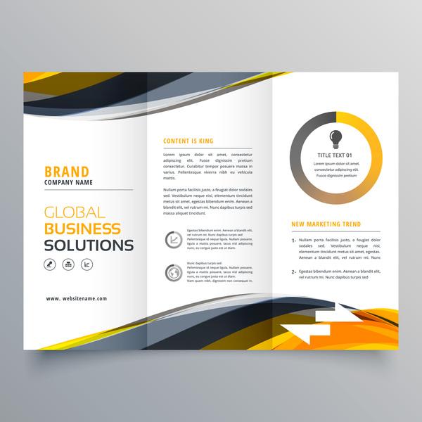 trois pliage couverture business brochure