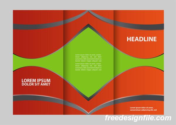 vert trois rouge pli flyer couverture brochure