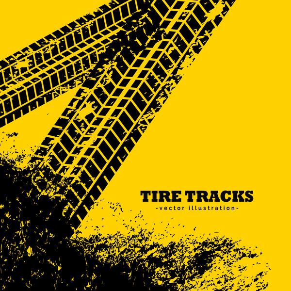 黄色 トレース タイヤ