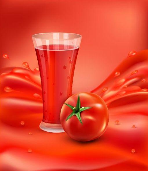 、飲む、トマト