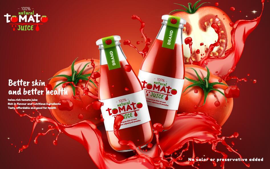 tomat Naturlig juice affisch