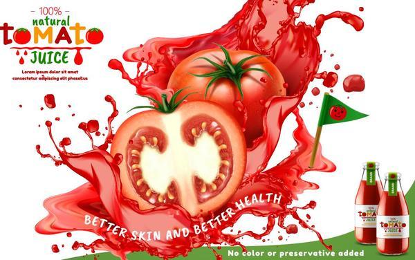 Tomate poster Jus naturel