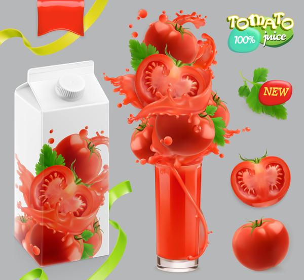 tomat splash juice grönsaker