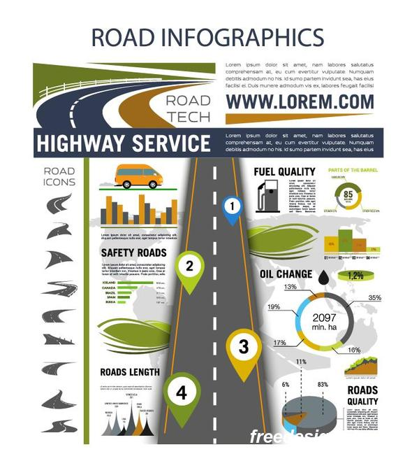 trafik road infographic