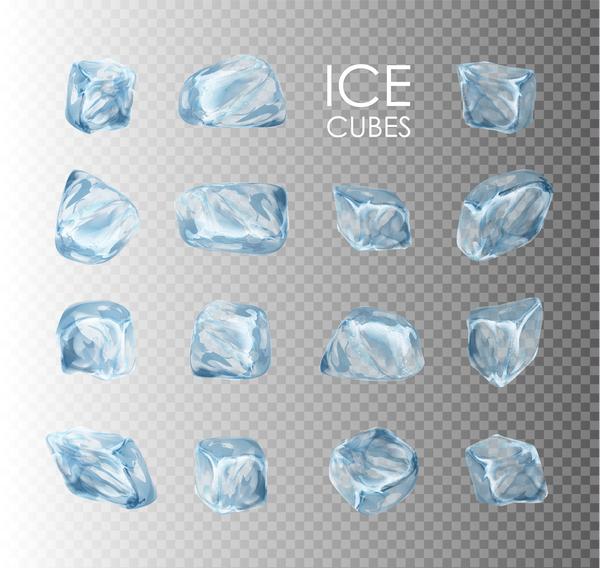 、キューブ、氷、透明