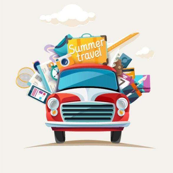 Urlaub Sommer Reisen auto