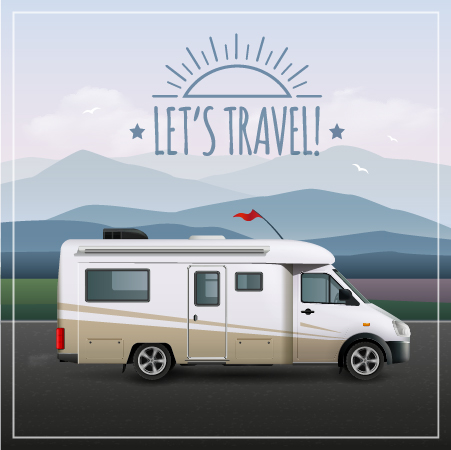 travel poster car