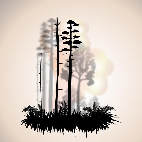 tree silhouette landscape fashion city