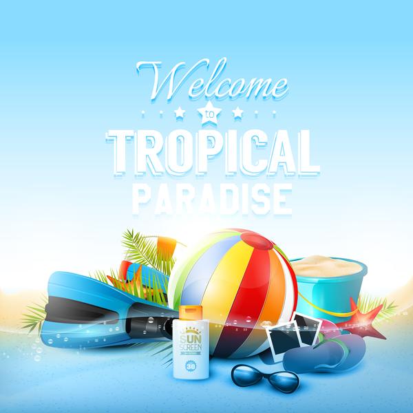 、ビーチ、熱帯、水中