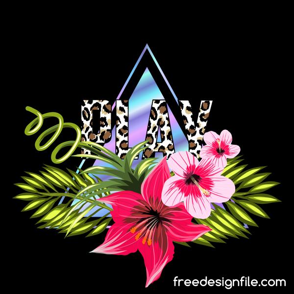 tropiska triangel Svart blommor