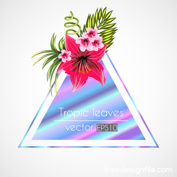 tropical triangle flowers