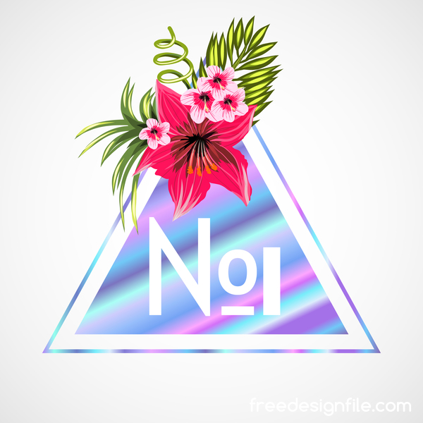 tropicale triangolo fiori