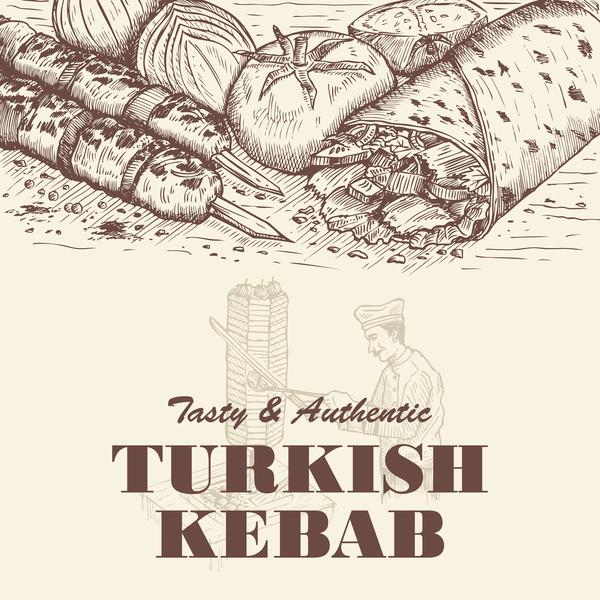 turco Poster Vintage kebab