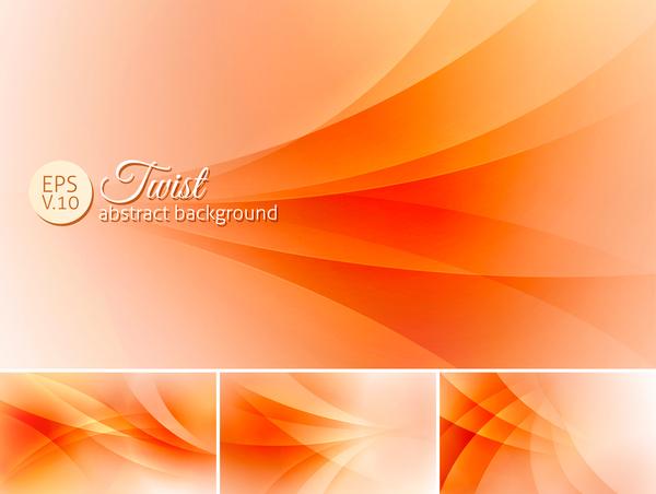 Twist orange Abstrakt