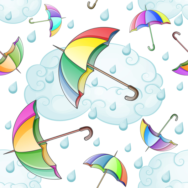 Regenschirm raindorp nahtlos Muster
