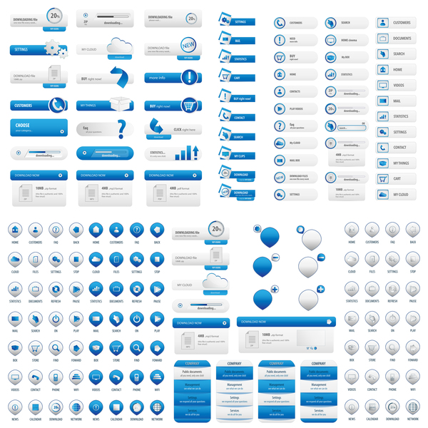 Tasten Licht blau Benutzer