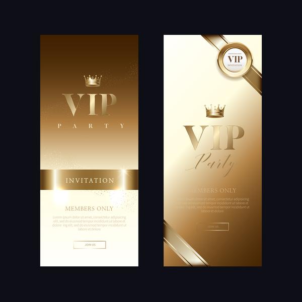 vip verticale invito carta banner