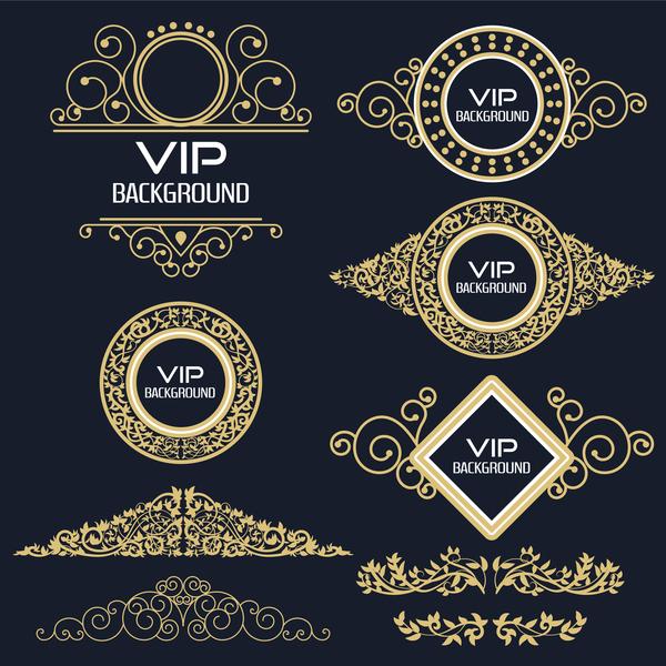 、装飾、黄金、ラベル、VIP
