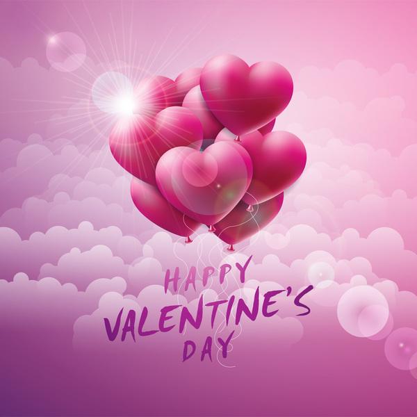valentine molnet kort hjärtat ballong