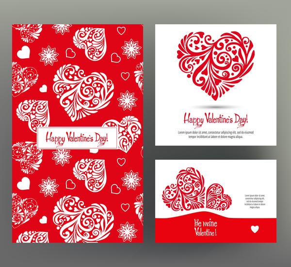、カード、日、バレンタイン