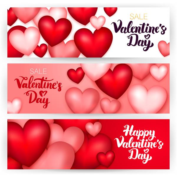 vente saint valentin formes forme de coeur Coeur bannières