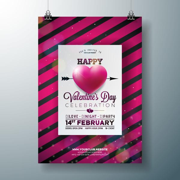 valentine täcka flyer broschyr