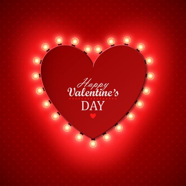 telaio San Valentino luce Lampadina