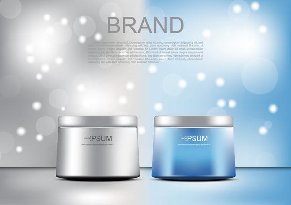 uppstramande lyft kosmetiska grädde grå blå annonser