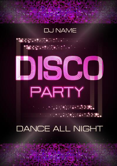 Part natt klubb disco affisch