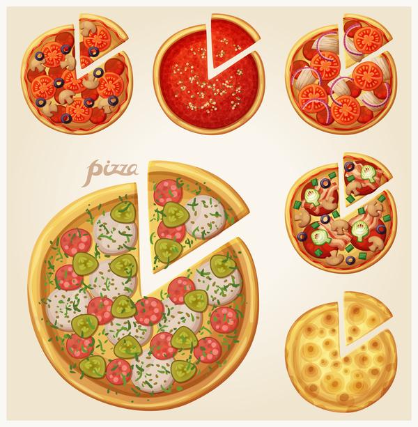 、ピザ、ベクトル