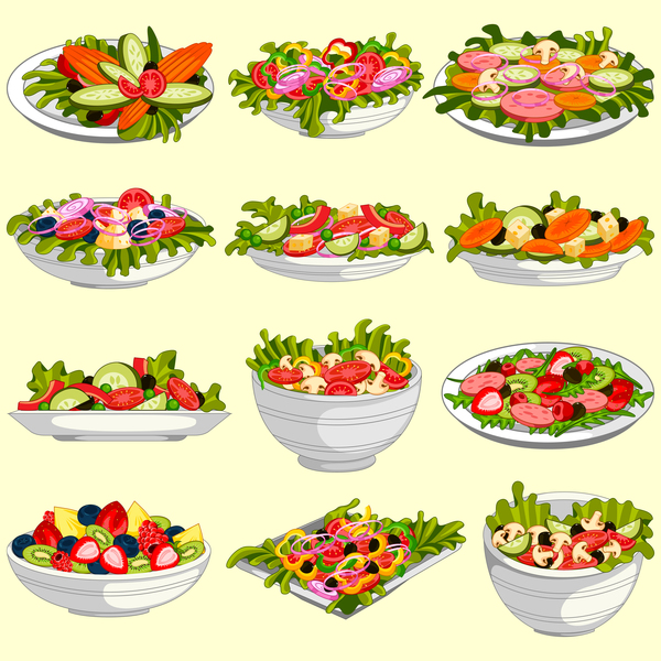 salade sain legumes fruits
