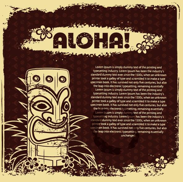 vintage poster aloha