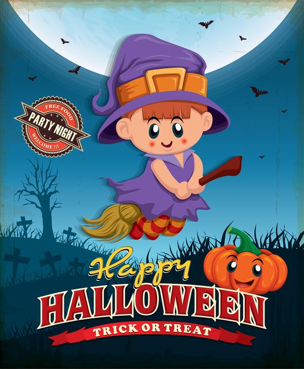 vintage poster Mignon halloween
