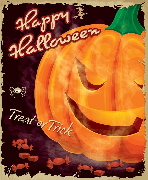 vintage halloween affisch