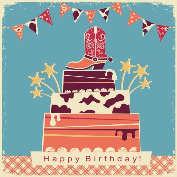 誕生日 ビンテージ パーティ カード