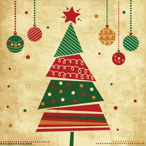 vintage Noel babioles arbre