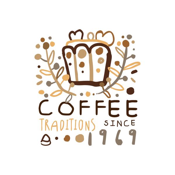、コーヒー、手、ヴィンテージ