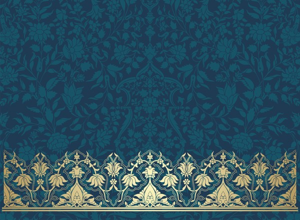 vintage senza soluzione di continuità floral fantasia decorativi confine