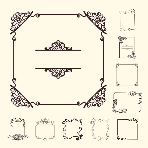 vintage encadrer design décoratif